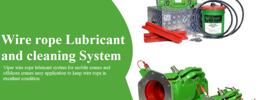 wire rope lubrification systeme