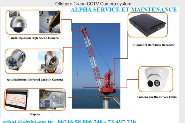 offshore cranes ccTv camera system
